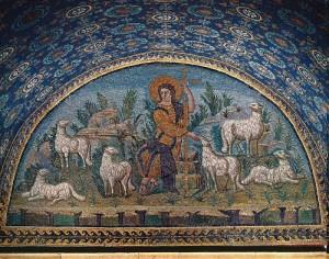 Den gode hyrde, mosaikk, Ravenna