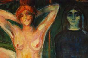 Edvard Munch Kvinnen 1894 utsnitt