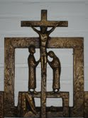 Korsfästelsen i korsvägen i Betaniensystrarnas kapell i Waldniel