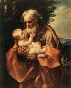 Saint Joseph with the Infant Jesus, Guido Reni (c. 1635) (Wikipedia)