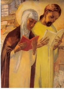 Katarina ber med Jesus