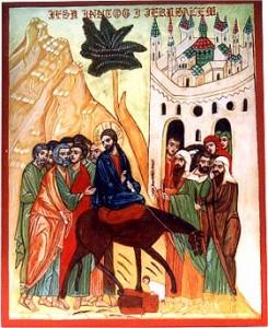 Palmesøndag (ikon Katarinahjemmet)
