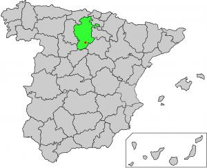 Kart over Spania som viser hvor Caleruega ligger