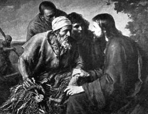 Jesus og Peter fiskeren