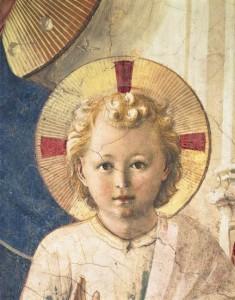 Fra Angelico OP. Maria og Jesusbarnet, detalj.