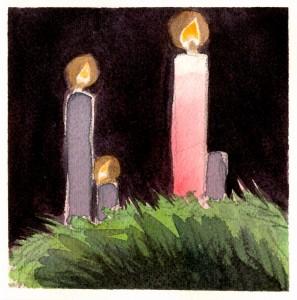 Gaudete - rosa lys i adventskransen