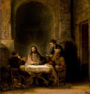 Rembrandt, Måltidet i Emmaus, Louvre