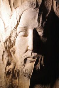 Sr. Dana Benedicta, Presence, wood carving, detail