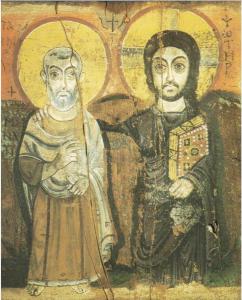 Jesus og venn, ikon